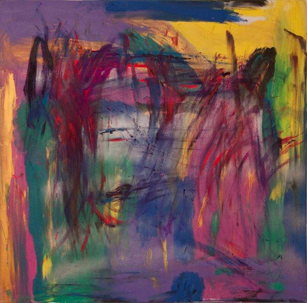 1. Locura de color. acrilico sobre tela. 150 x 150 cm. 2012