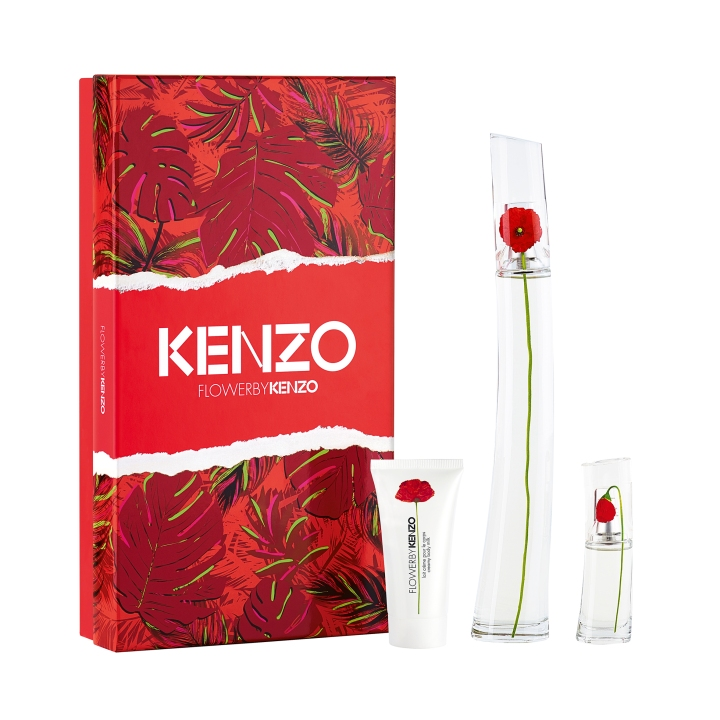 FLOWER BY KENZO EDP 100ML + BODY MILK 50ML + POPPY 15ML $4090