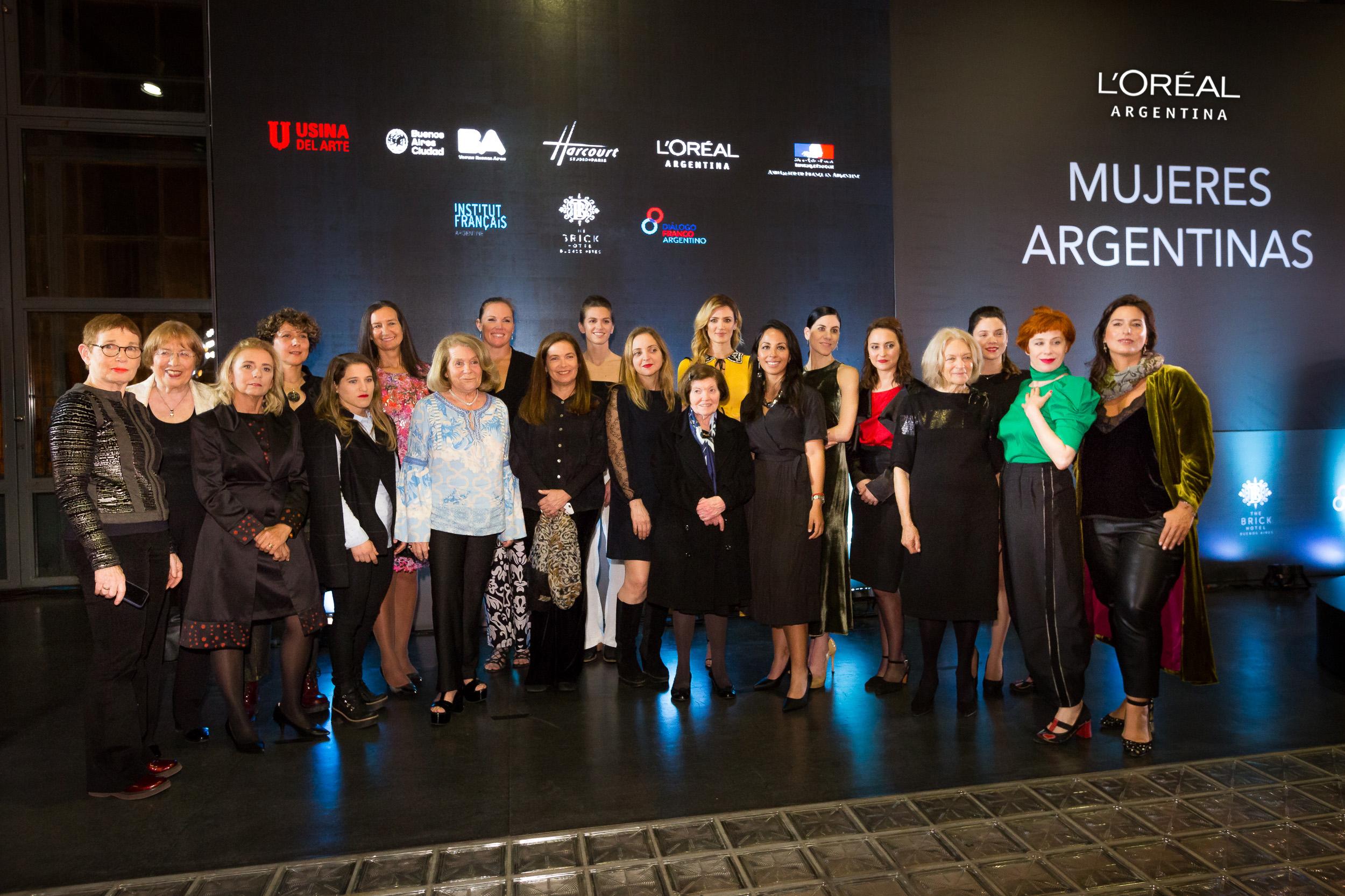 Todas las protagonistas que formaron parte de la muestra Mujeres Argentinas de L'Oréal