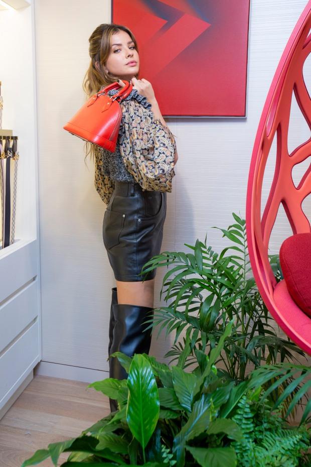 China Suarez no quiso perderse la apertura del pop-up store de Louis Vuitton en Patio Bullrich