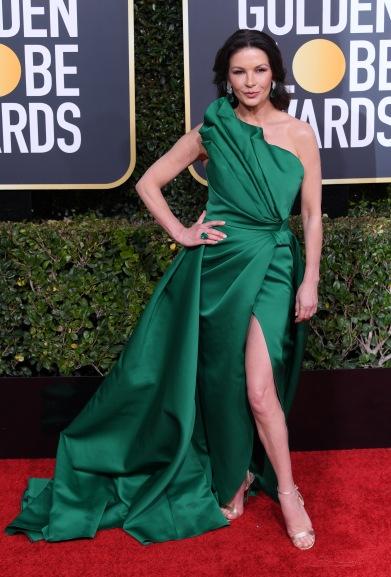Mandatory Credit: Photo by David Fisher/Shutterstock (10048065dw) Catherine Zeta-Jones 76th Annual Golden Globe Awards, Arrivals, Los Angeles, USA - 06 Jan 2019