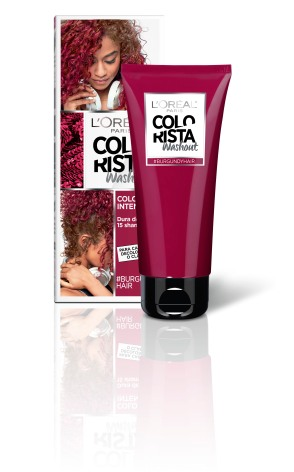 l'oréal paris colorista washout burgundy hair