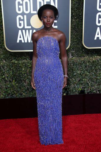 Mandatory Credit: Photo by Matt Baron/BEI/Shutterstock (10048067lk) Lupita Nyong'o 76th Annual Golden Globe Awards, Arrivals, Los Angeles, USA - 06 Jan 2019