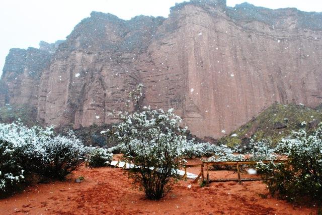 Talampaya con nieve