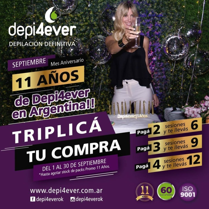 Flyer PROMO ANIVERSARIO. Triplica. Depi4ever