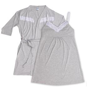 Bata (7355) y Camisolín (7354) Maternal ($1750 y $1310)