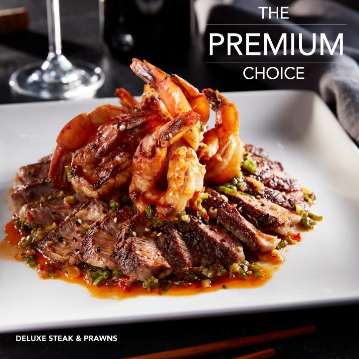 Deluxe Steak & Prawns - Baja