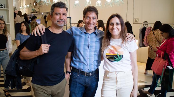 Guillermo Mendoza + Marcio Coimbra Gerente de Santista Jeanswear Argentina + Veronica Alfie de Vero Alfie