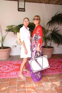 Natalia Lobo y Grace Ratto en la presentación de Ro´s Garden
