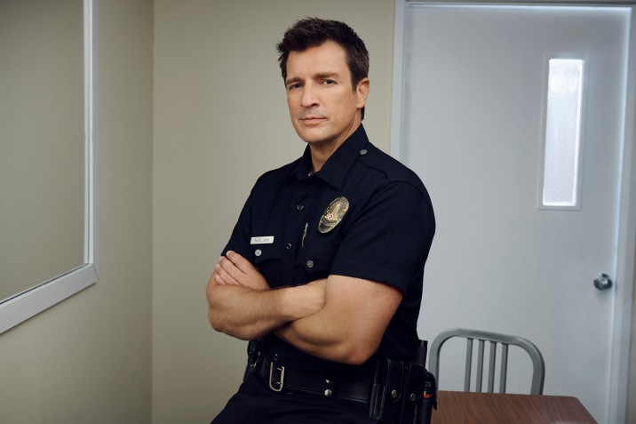 "THE ROOKIE - ABC's ""The Rookie"" stars Nathan Fillion as John Nolan. (ABC/Andrew Eccles)"