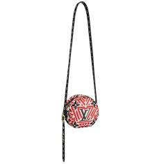 Boite Chapeau Souple bag LV Crafty cream _ red in Monogram coated canvas