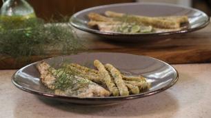 Cap 3 Esparragos a la parmesana con trucha