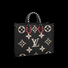OnTheGo tote LV Crafty Monogram Empreinte black, in embossed supple grained cowhide leather