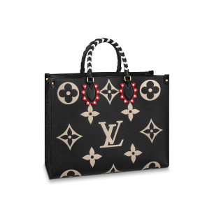 OnTheGo tote LV Crafty Monogram Empreinte black, in embossed supple grained cowhide leather